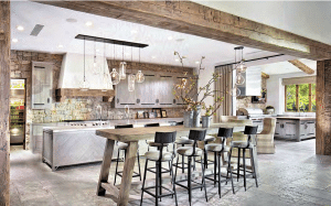 White Kitchen w Rustic Wood Elements